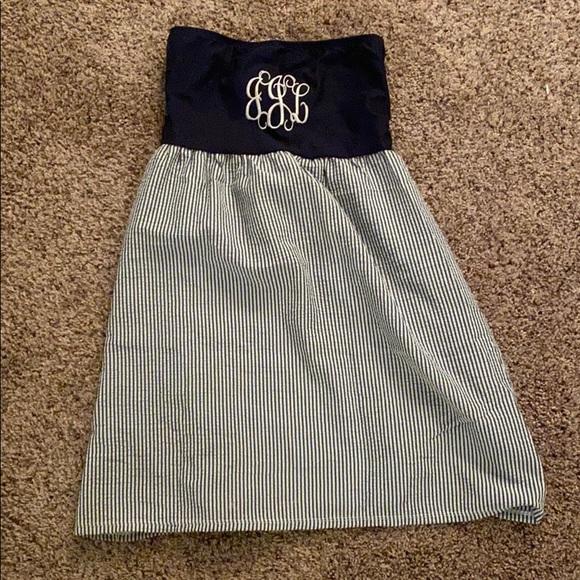 Xs Ginny M strapless shirt/dress monogram JJL